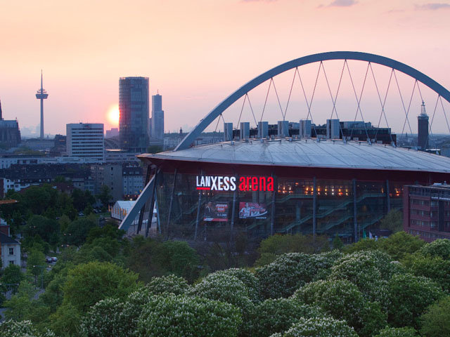 Die Lanxess Arena in Köln VELUX EHF Final4