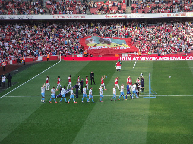 Einlauf Arsenal London Emirates Stadium