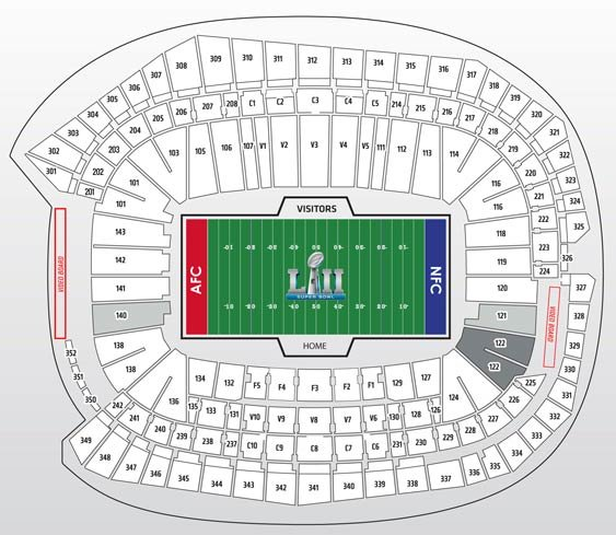 Super Bowl Silver Package Seat Map