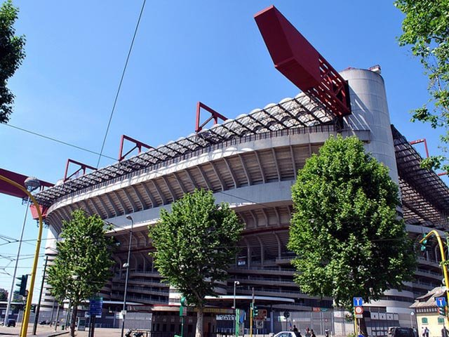 Das Guiseppe Meazza Stadion in Mailand